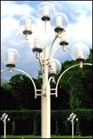 cột đèn trang trí chùm 9 bóng cầu