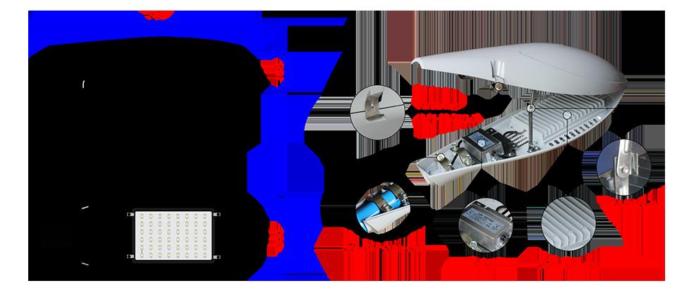 Đèn đường led 40W 45W 50W ANITA78-LED48