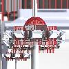 Cột đèn nâng hạ NH-DOME | HAPULICO INDUSTRY.,JSC