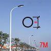 Cột đèn tròn côn liền cần 7M TCC7