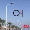 Cột đèn tròn côn liền cần 10M | Cột thép tròn côn liền cần 10M