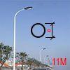 Cột đèn tròn côn liền cần 11M TCC11