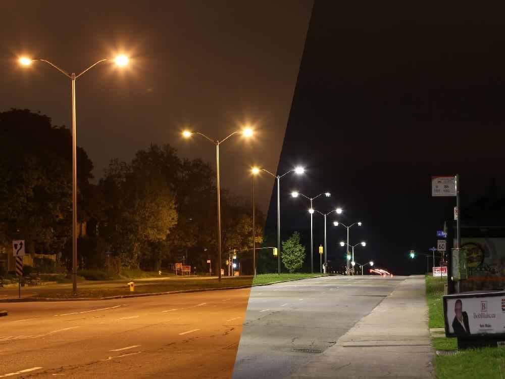 So sánh đèn đường led với đèn đường cao áp sodium. Chiếu sáng đường phố công cộng sẽ chuyển sang dùng LED